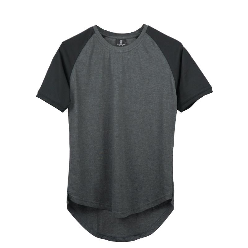 Curved Scoop Hem Tee Steel