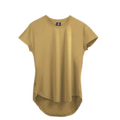 Scoop Shoulder Hem Tee Frosted Almond