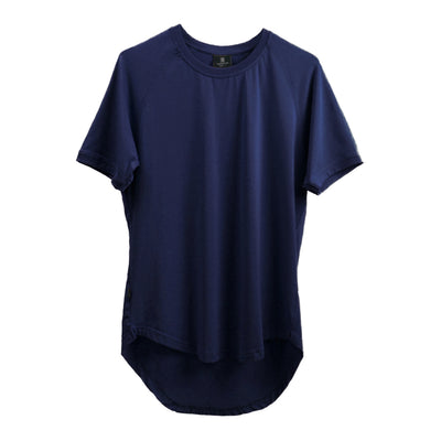 Curved Scoop Hem Tee Navy