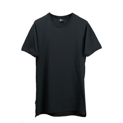 Straight Hem Tee Black