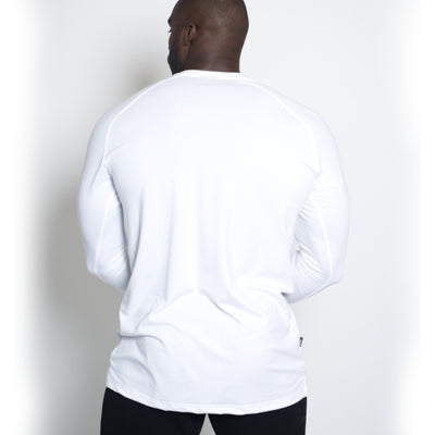 Straight Long Sleeve White