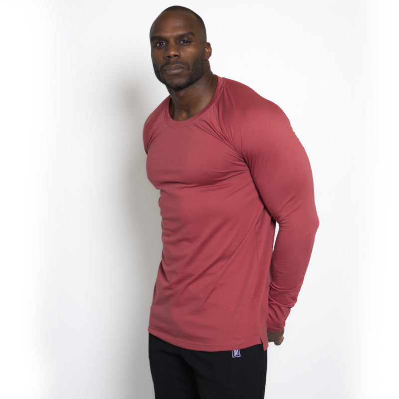 Straight Long Sleeve Marsala