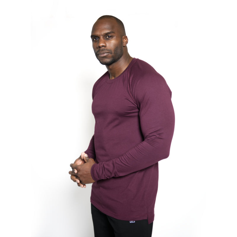 Straight Long Sleeve Merlot
