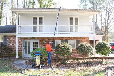 SkyVac Gutter Cleaning in Action