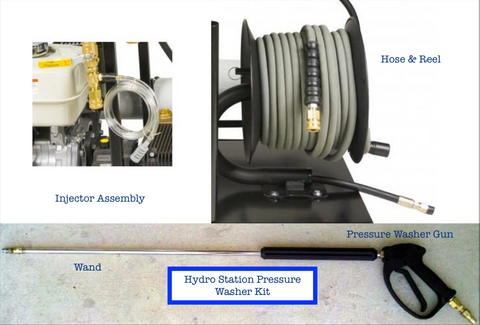 Hydro Station Pressure Washer Kit (Hose, Reel, Gun & Injector Assembly)