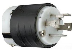 Pass & Seymour L1430-P Turnlok Locking Plug 4 Wire, 30 Amp, 125/250 Volt, Nema L14-30P