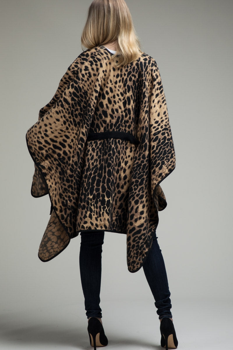 Fierce and Fab Leopard Ruana