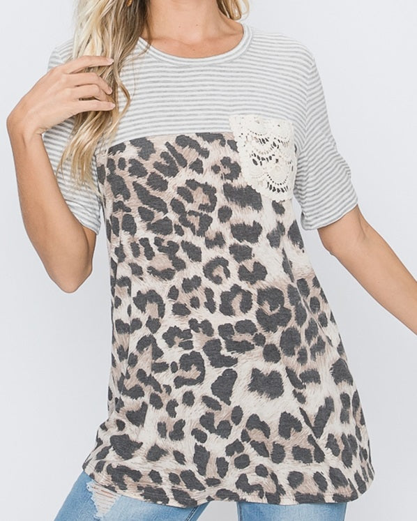 In Good Company Tunic in Leopard - Curvy