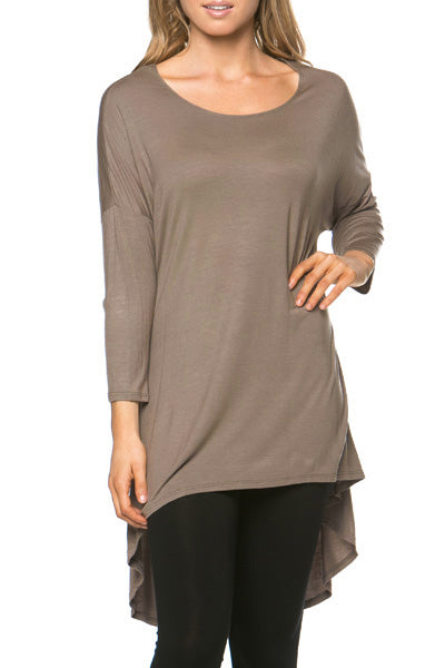 The Mia Tunic in Mocha - Women's - MIA Boutique LLC