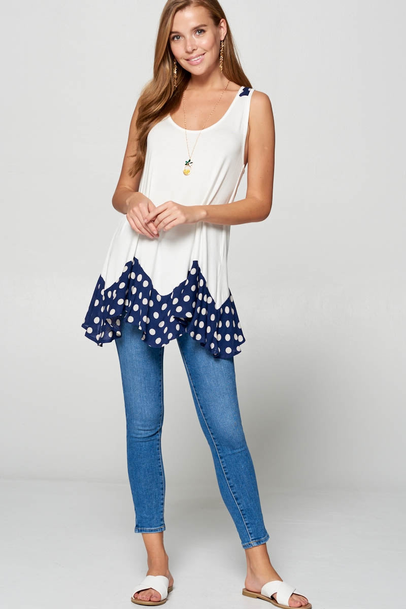 In the Spotlight Tunic in Navy Blue - MIA Boutique LLC
