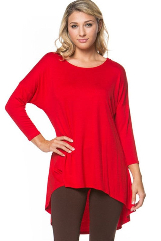The Mia Tunic in Red - MIA Boutique LLC