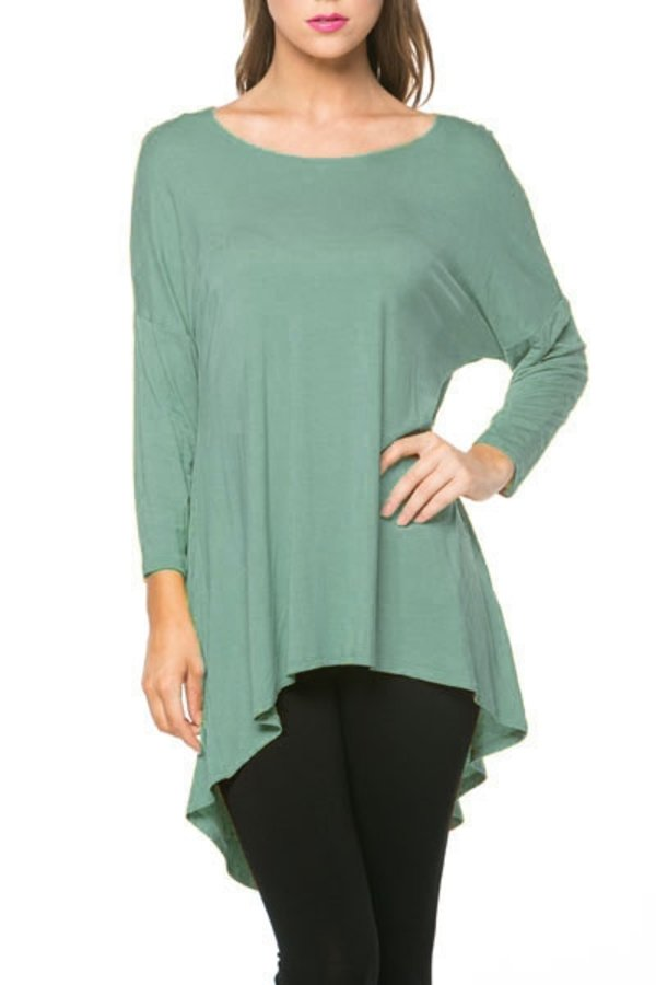 The Mia Tunic in Light Spruce - Women's - MIA Boutique LLC