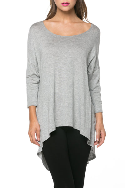 Curvy Mia Tunic in Heather Grey - MIA Boutique LLC