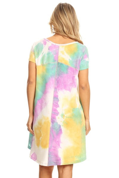 Lilly in Miami Tie Dye Dress - Dress - MIA Boutique LLC