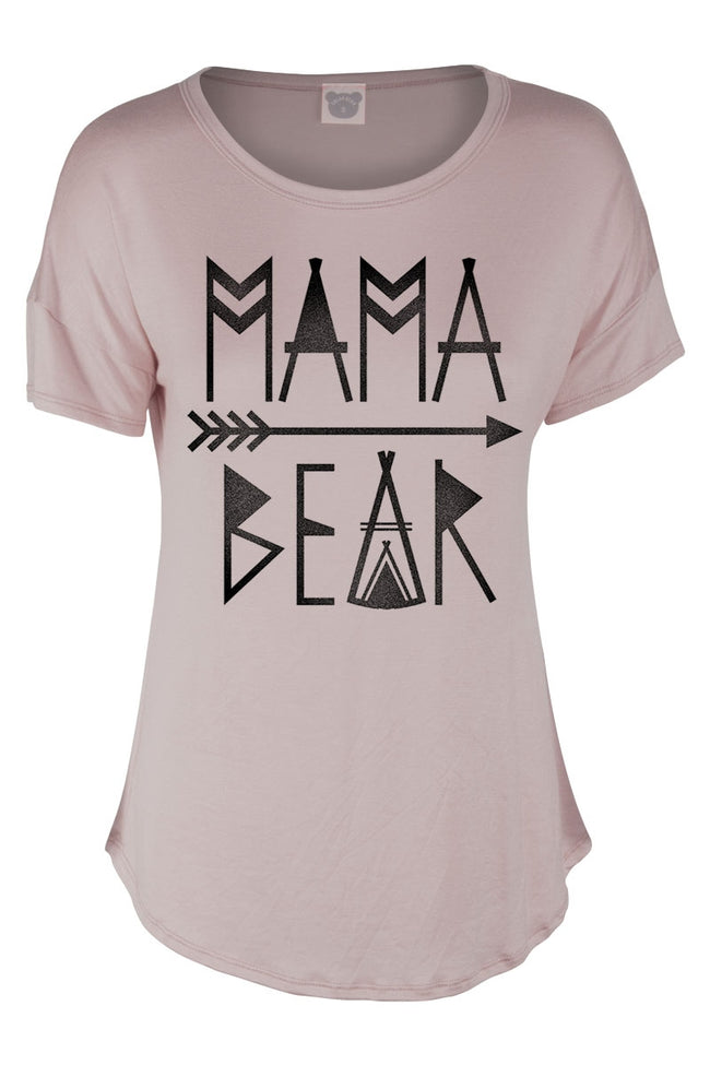 Mama Bear Tee in Taupe - MIA Boutique LLC