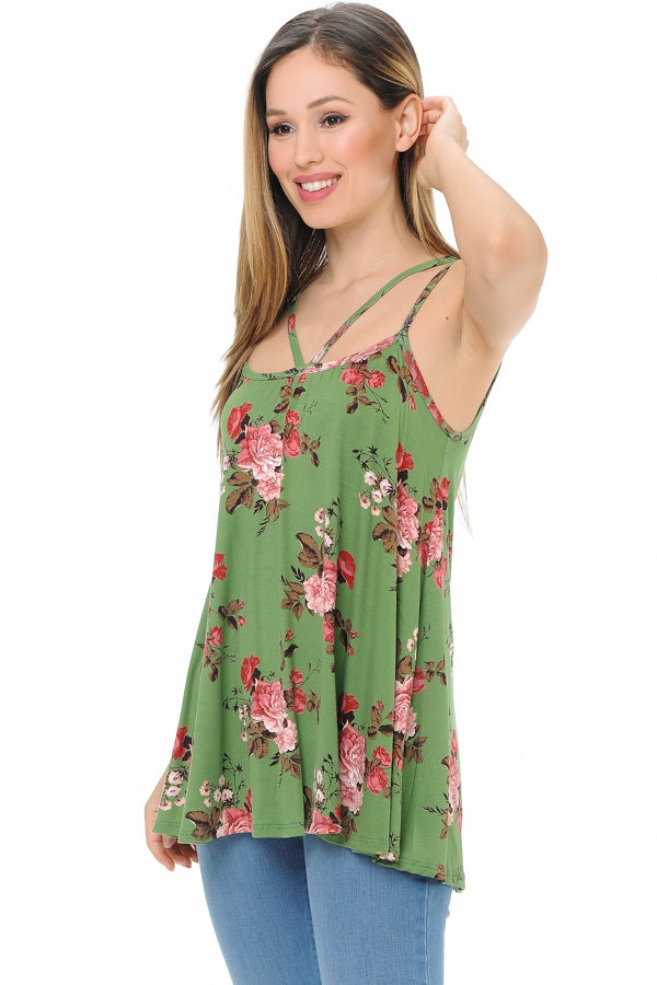 Endless Summer Floral Top in Green - Top - MIA Boutique LLC