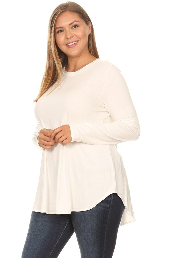 The Jamie Top in Ivory - Curvy - MIA Boutique LLC