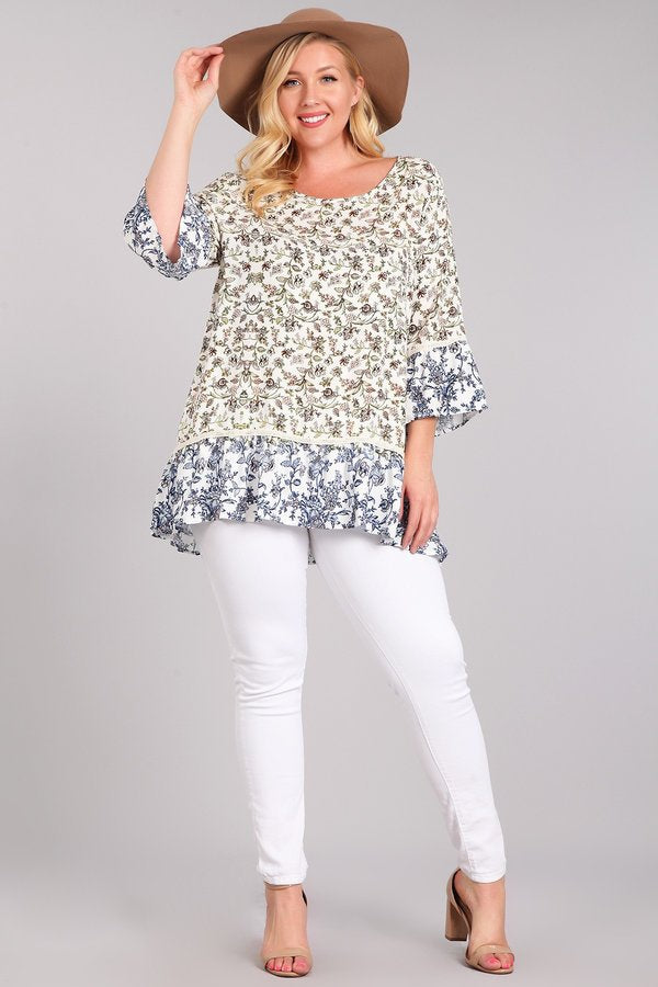 Let's Do Lunch in Ivory - Curvy - Top - MIA Boutique LLC