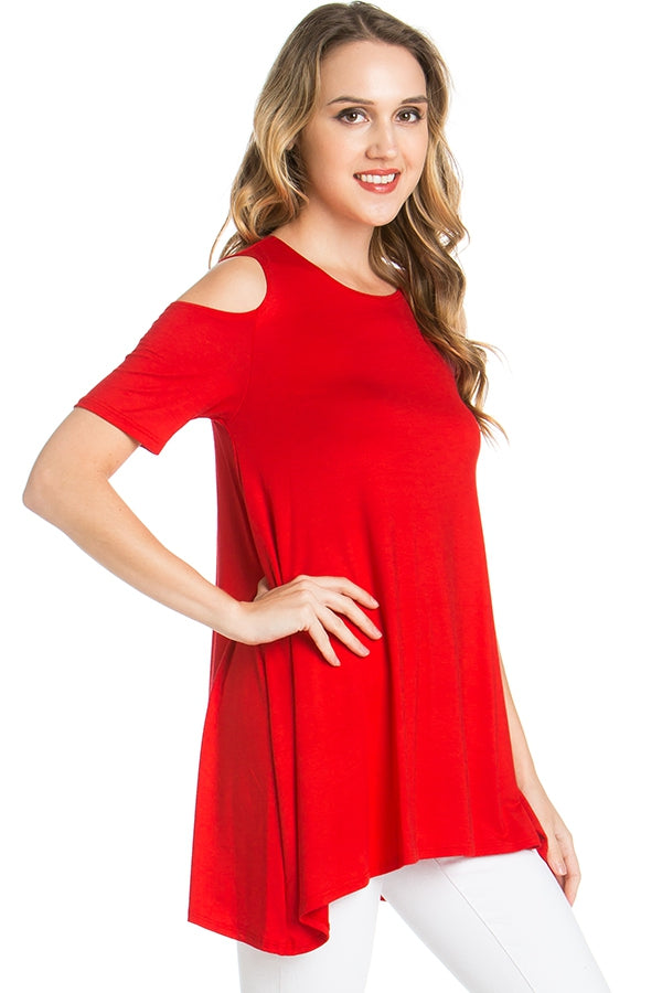 The Anna Tunic in Red - MIA Boutique LLC