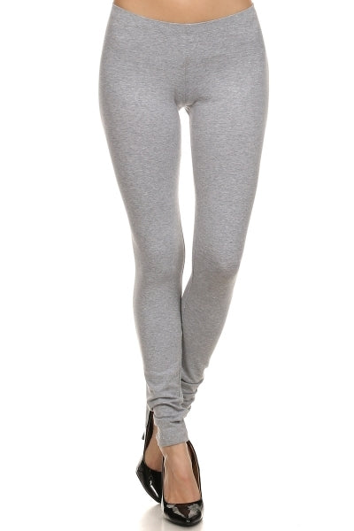 Basic Leggings - Heather Grey - Bottom - MIA Boutique LLC