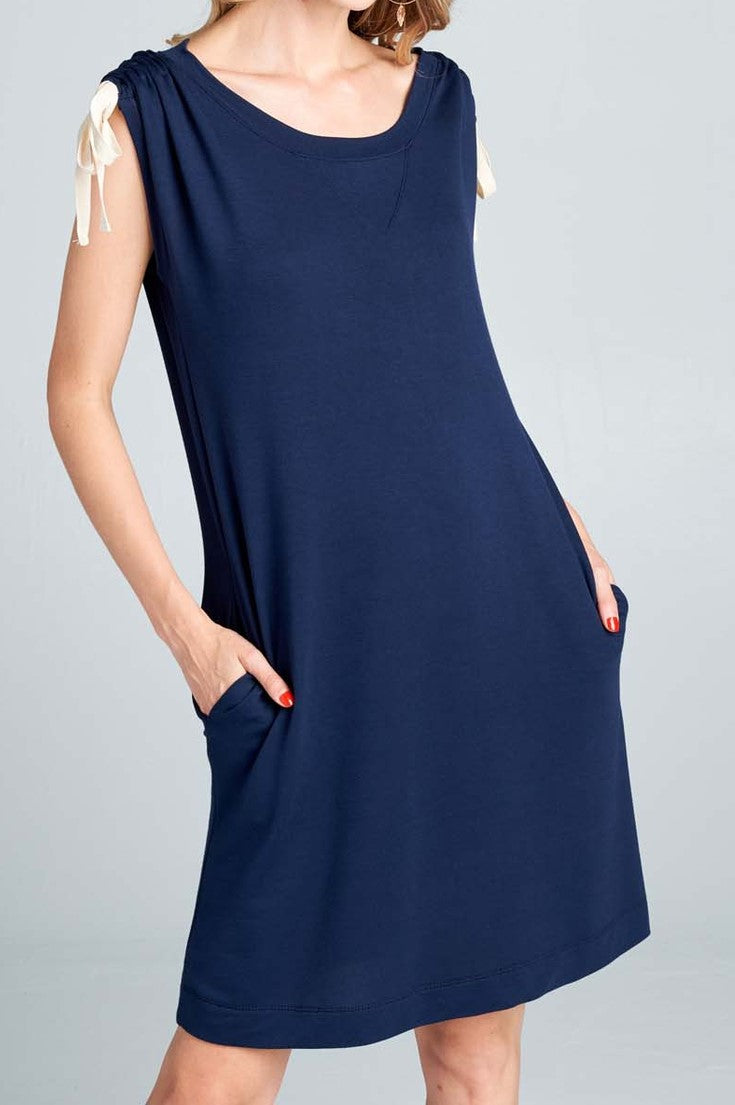 It's a Good Day Tunic Dress in Navy - Dress - MIA Boutique LLC