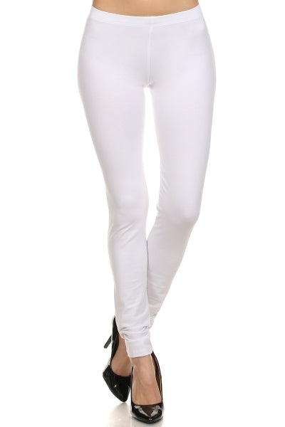 Basic Leggings in White - Bottom - MIA Boutique LLC