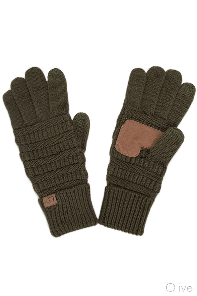 Mountainside SmartTips Gloves in Olive