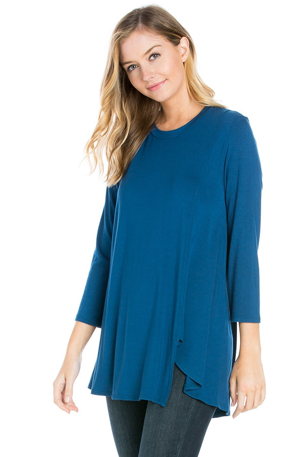The Becky Top in Ink Blue - Top - MIA Boutique LLC