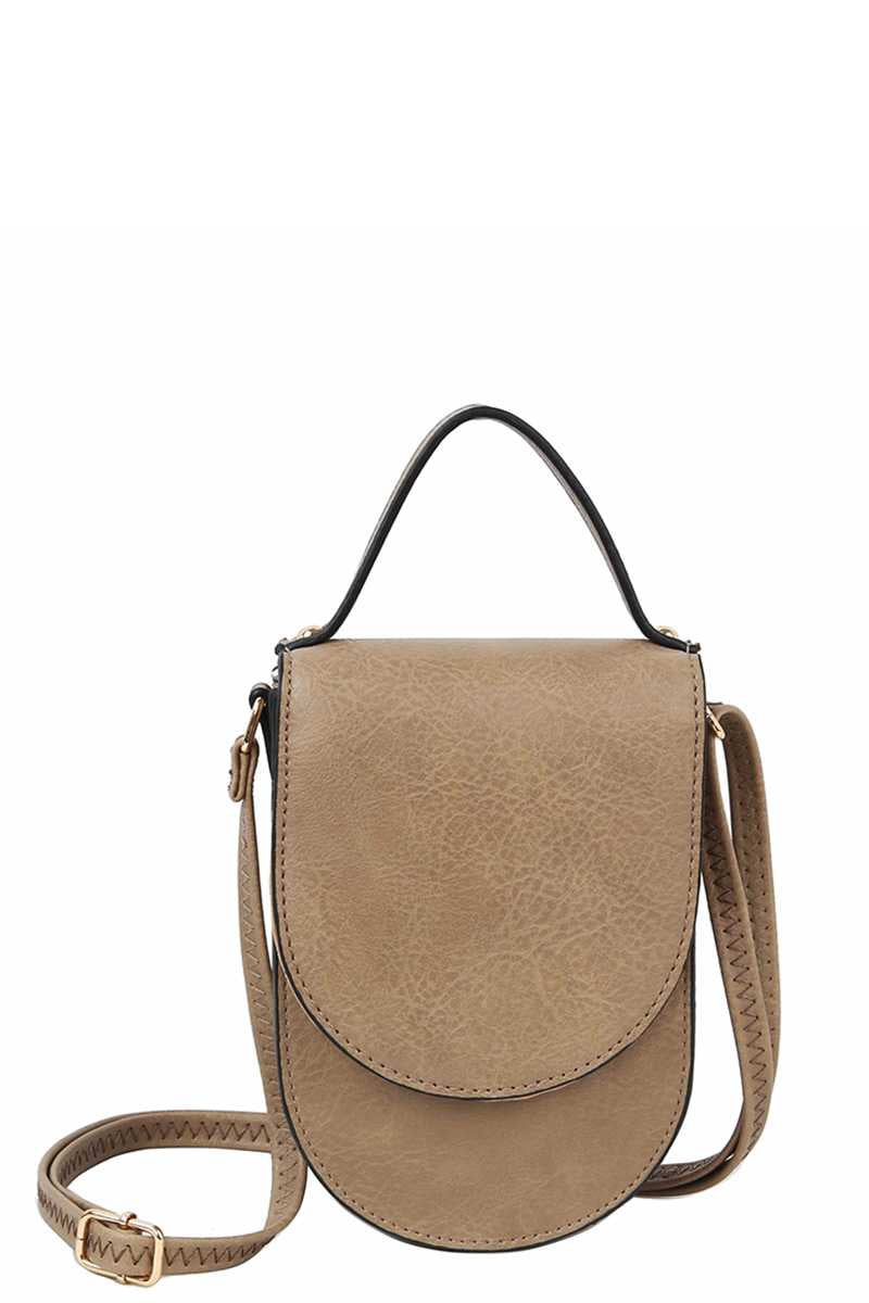 Pulled Together Crossbody in Pecan