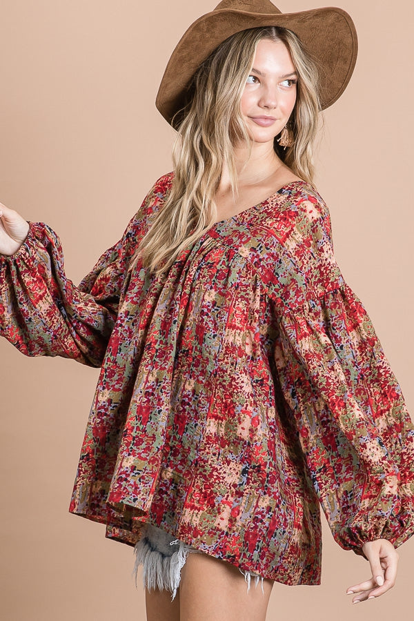 Perfectly Carefree Blouse in Burgundy