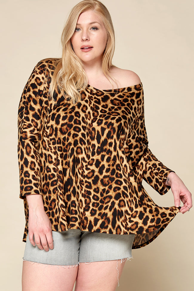 Lively in Leopard Top - Curvy - Top - MIA Boutique LLC