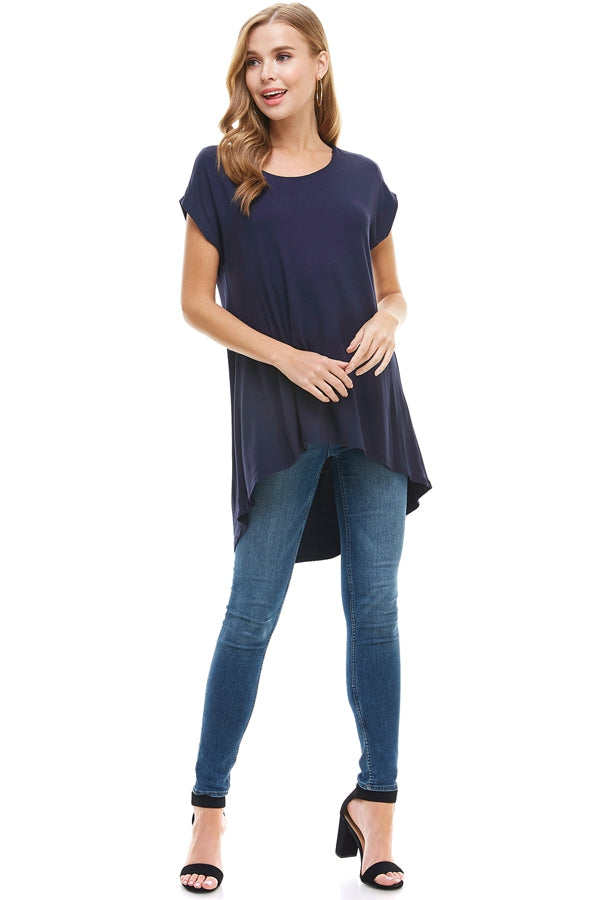 The Carol Tunic in Navy - Top - MIA Boutique LLC