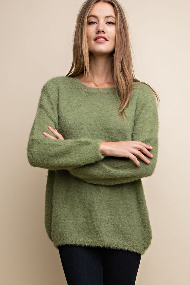 Golden Olive Sweater - MIA Boutique LLC