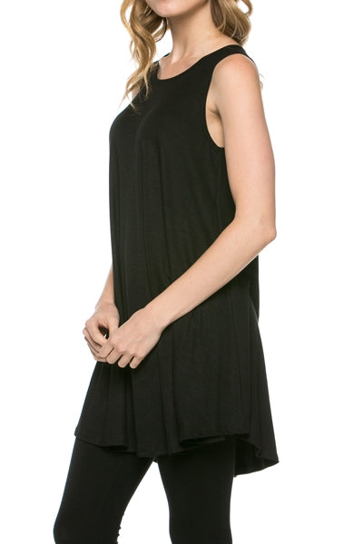 The Elizabeth Tunic in Black - Top - MIA Boutique LLC