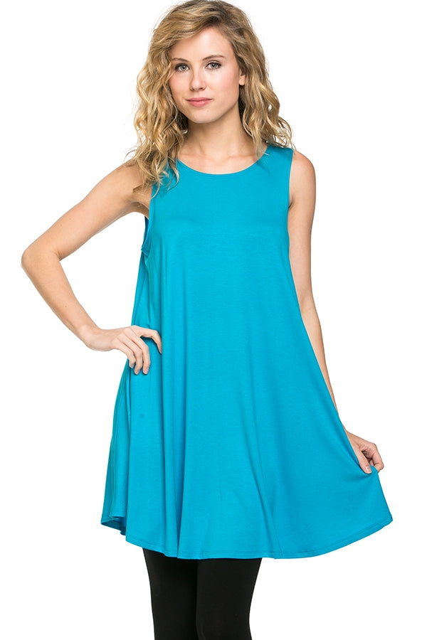 The Elizabeth Tunic in Turquoise - Top - MIA Boutique LLC