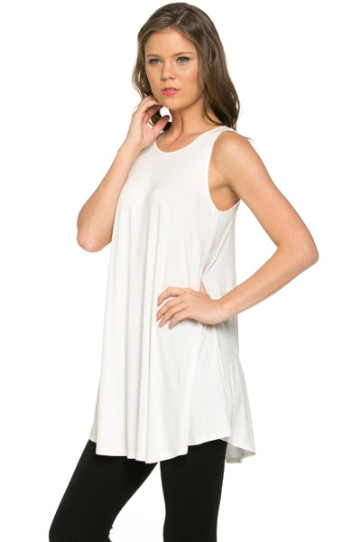 The Elizabeth Tunic in Ivory - Top - MIA Boutique LLC