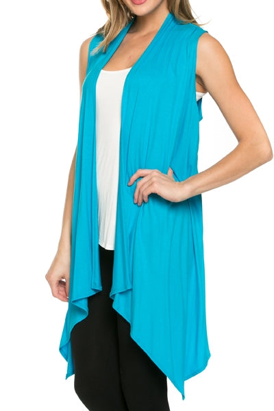 Flyaway Knit Vest in Turquoise - MIA Boutique LLC