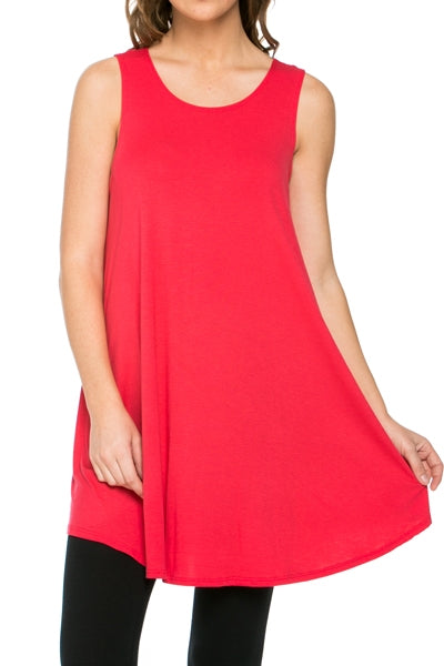 The Elizabeth Tunic in Coral - Top - MIA Boutique LLC