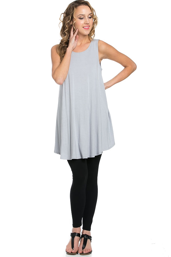 The Elizabeth Tunic in Silver - MIA Boutique LLC