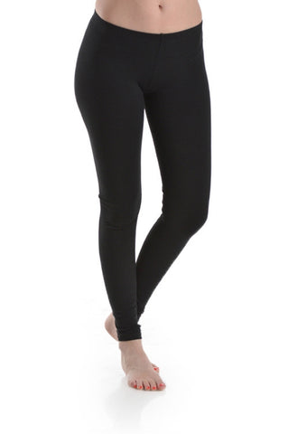 Basic Capri Length Leggings in Charcoal