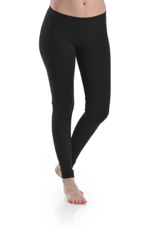 Basic Leggings - Black - MIA Boutique LLC