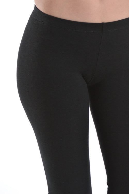 Basic Leggings - Black - Bottom - MIA Boutique LLC