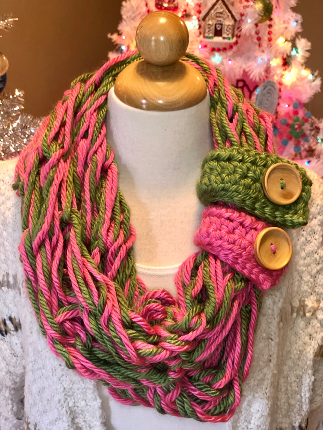 Allie Rose Two Button Infinity Scarf - Give Back Item