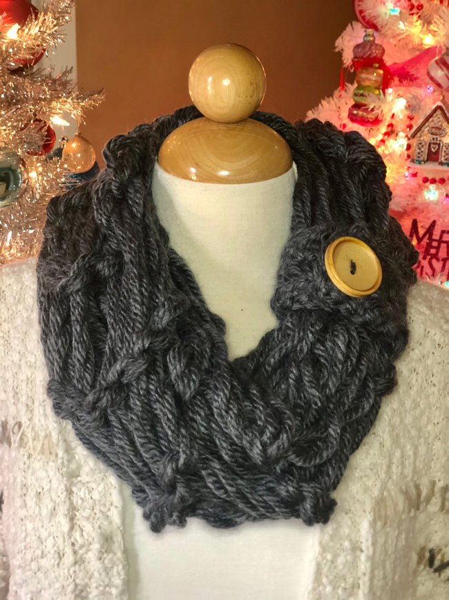 Allie Rose One Button Infinity Scarf - Give Back Item
