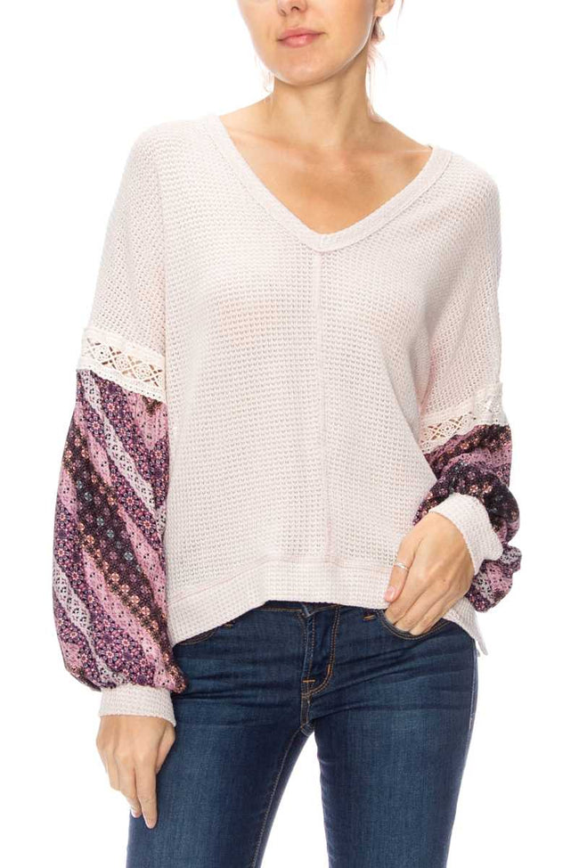 Urban Chic Top in Purple/Blush - Top - MIA Boutique LLC