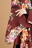 Season of Change Kimono in Burgundy Floral - Top - MIA Boutique LLC