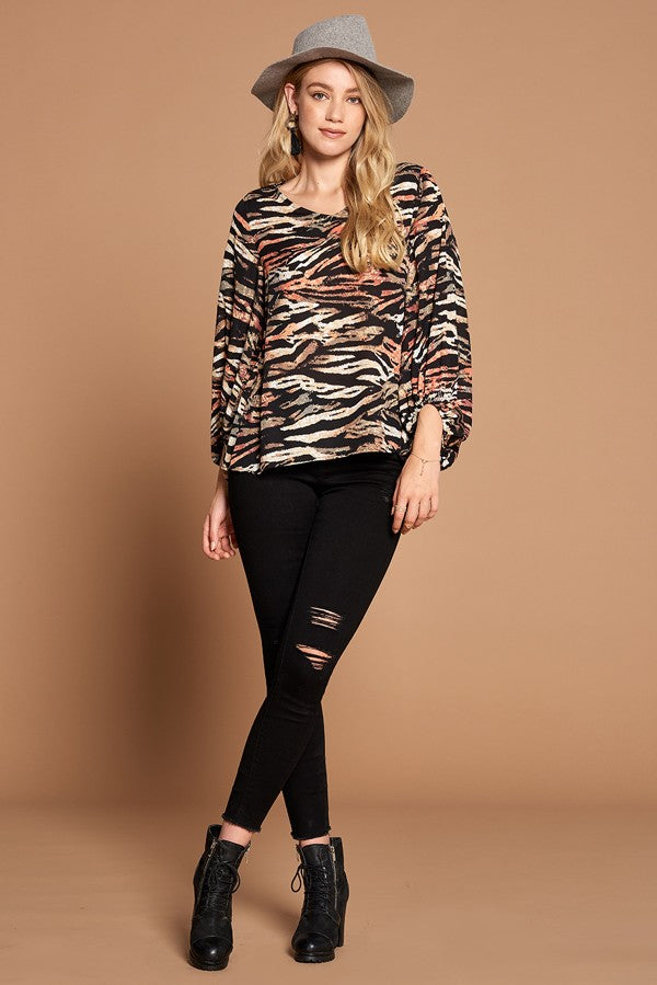 Wild Wanderer Blouse in Black - Top - MIA Boutique LLC