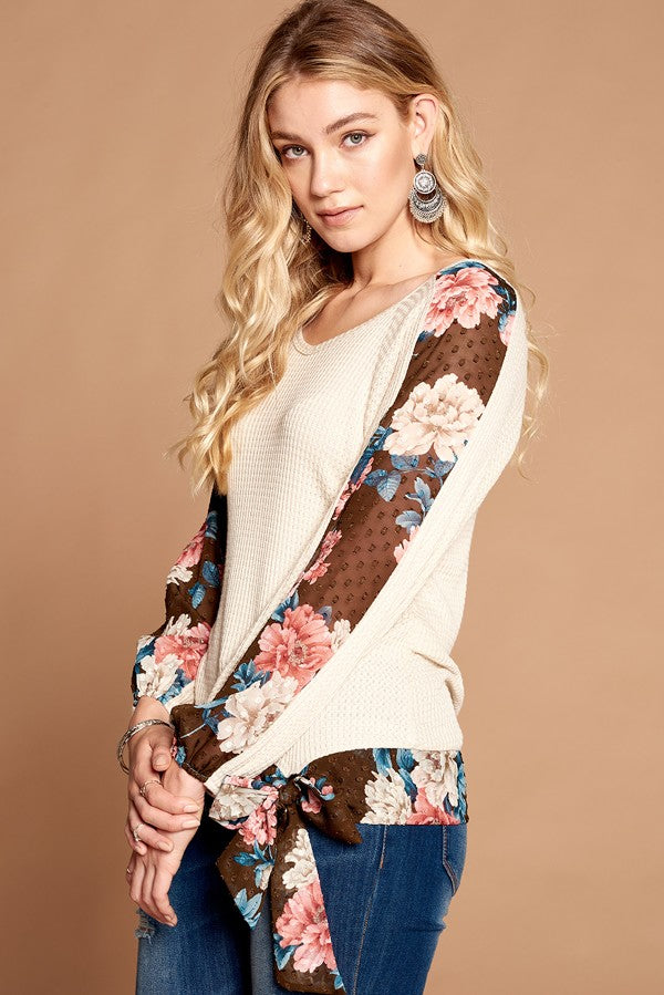 Let's Meet For Lattes Top in Oatmeal - MIA Boutique LLC
