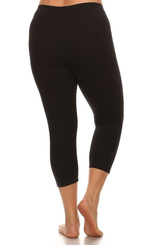 Basic Crop Legging in Black - Bottom - MIA Boutique LLC