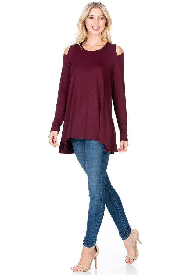 The Jessica Tunic in Merlot - MIA Boutique LLC